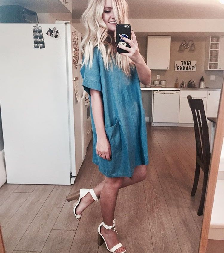 CHAMBRAY DRESS || @CHANROBERSON || @BEHERENOWCLOTHING || cute dress, asos sandals, forever21, old navy, blonde, blogger, simple style, outfit idea, easy outfit, cool style, boho.