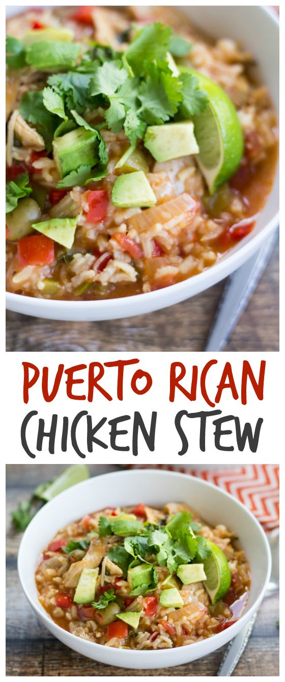 This Asopao de Pollo (Puerto Rican Chicken Stew) is packed with flavor from bell peppers, tomatoes, and olives. Just 45 minutes and dinner is served!