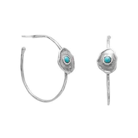 Blue Isle Brass Post Hoop Earrings