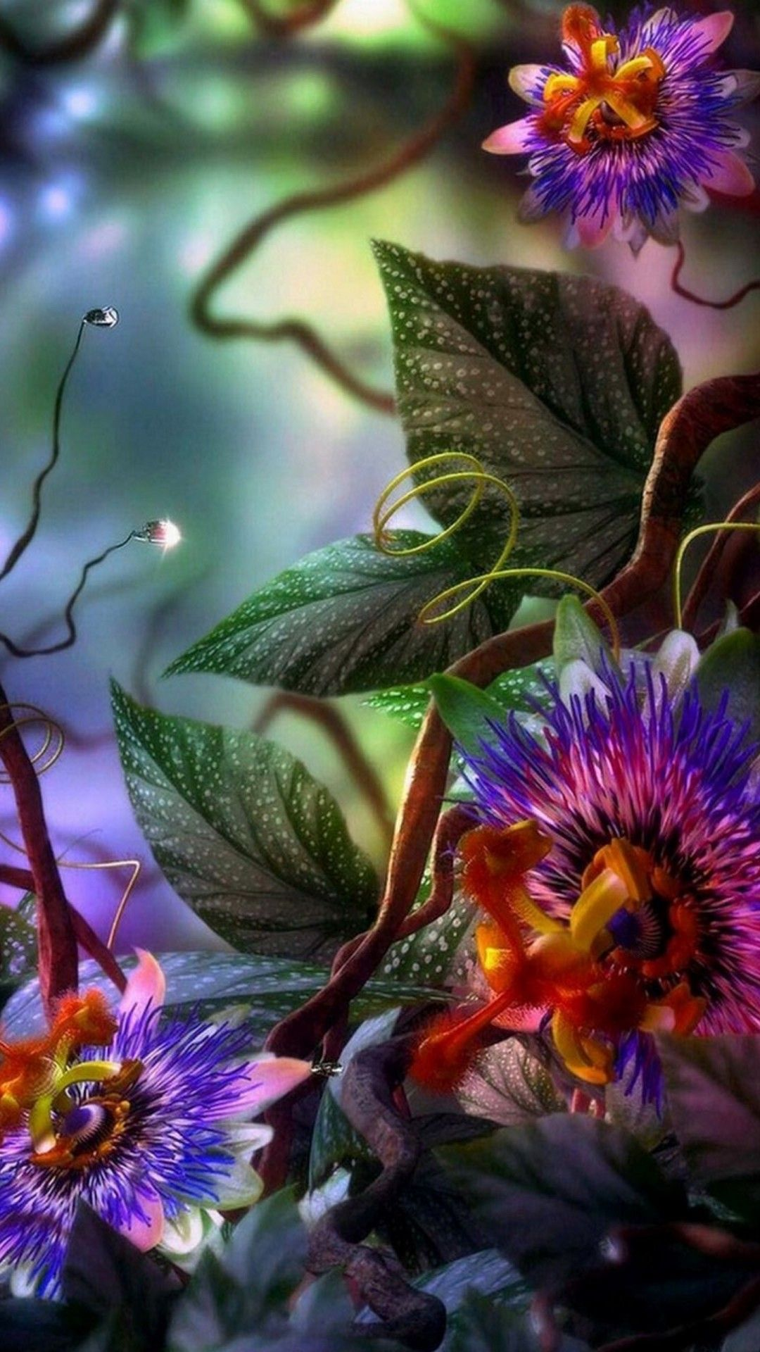 Wallpaper 3D Flower Mobile Flower wallpaper, Flower mobile