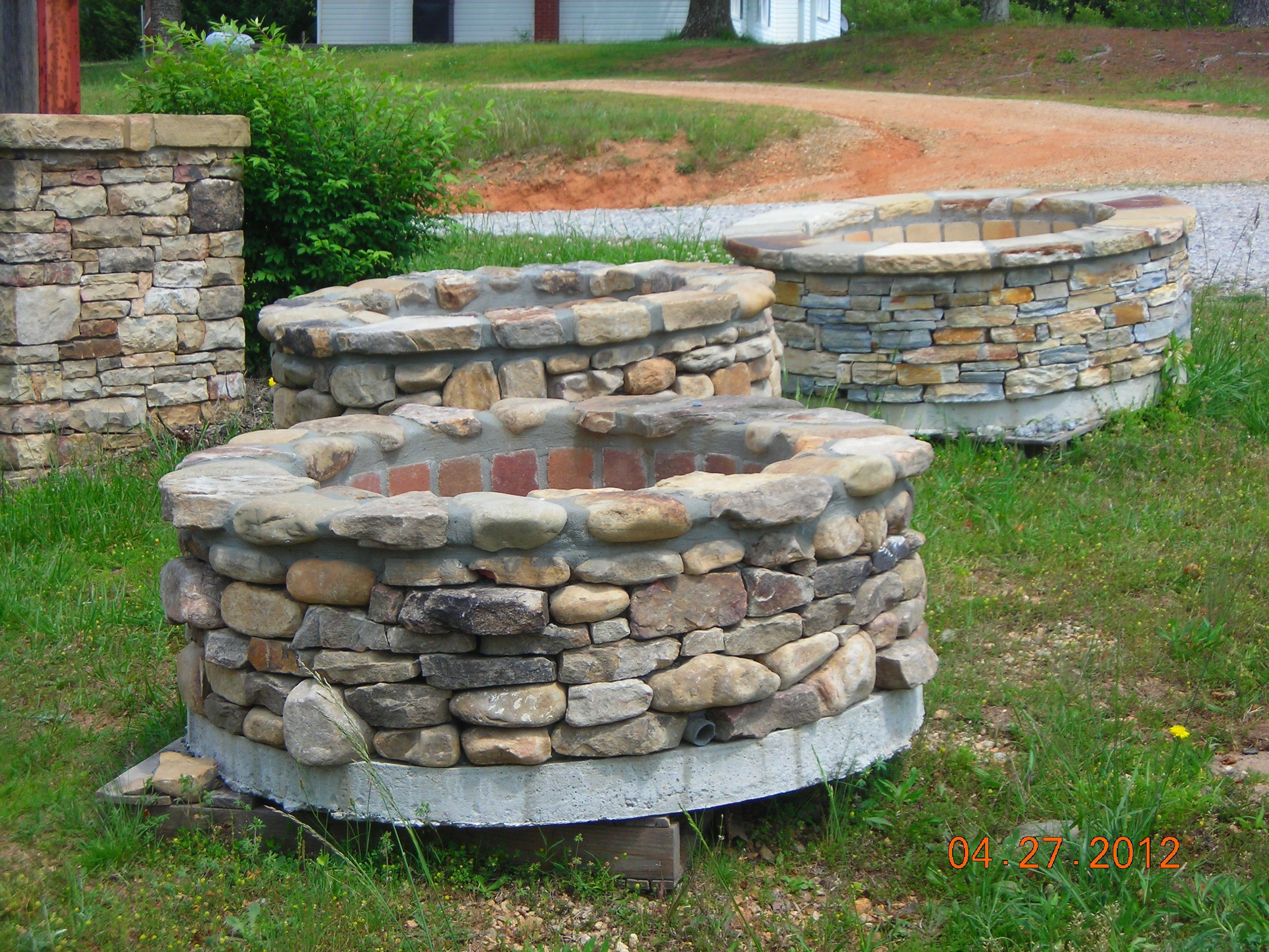 Pre Made Stone Fire Pits Portable And Place Where You Like
