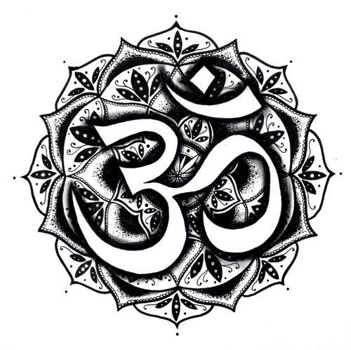 hindu symbols tattoos - 500×499