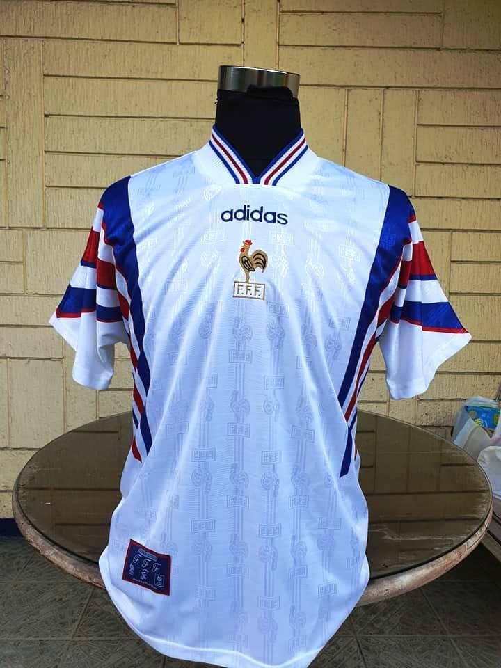 France 1996 euro semifinals jersey adidas away vintage