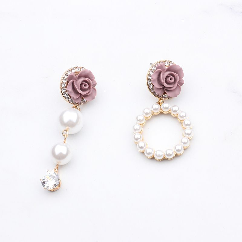 2c9501cb7 2017 Korean Temperament Flower Earrings Brinco Simulated Pearl Circle  Rhinestone Pendientes For Women Fashion Jewelry,#Earrings#Brinco#Simulated