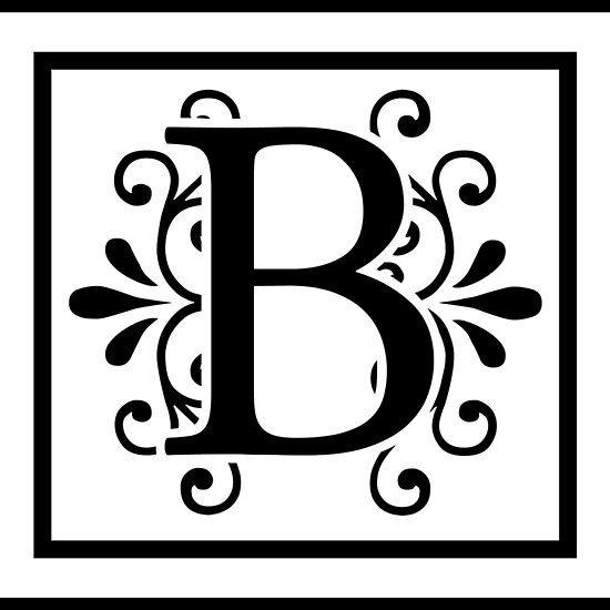 Letter B Monogram | Crafts | B monogram, Monogram letters, Lettering