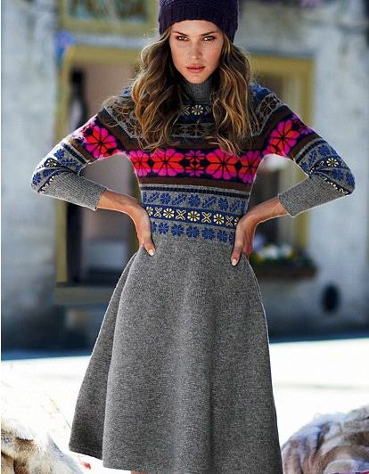 Victoria's Secret Fair Isle Turtleneck Sweaterdress | VICTORIA'S ...