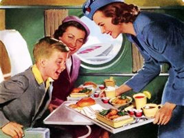 vintage airplane meals | Meals aren't really like this on airplanes anymore. Sadness.