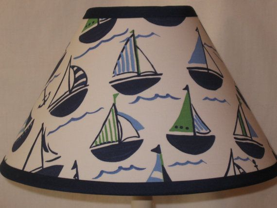 Preppy Boats Nursery Lamp Shade M2M By CassyCustomCreations, $25.00