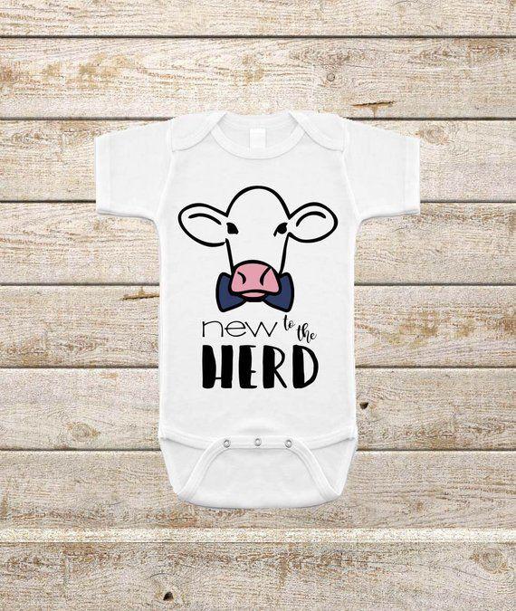 45040e1be New to the Herd Cow SVG Design | Cut Files ONLY | Newborn Onesie SVG | Farm  Boy Onesie | Newborn svg