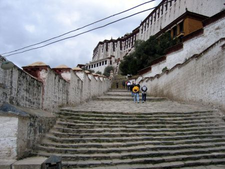 The steps up to the Potala Palace