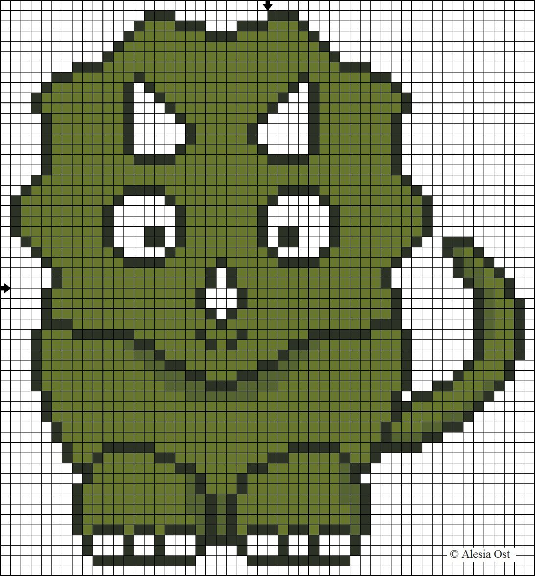 X-Stitch Magic: Triceratops pattern