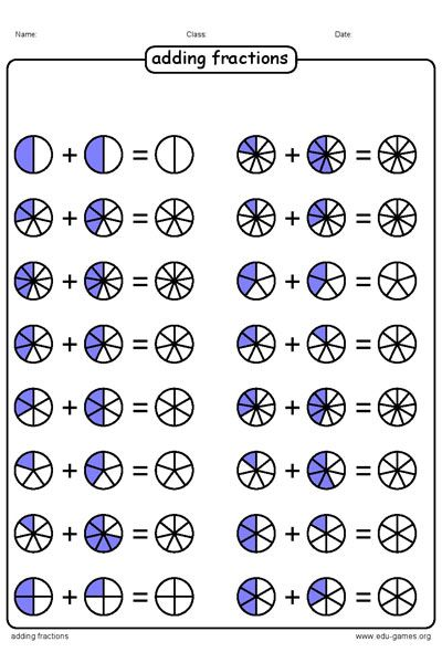 Free Graphical Adding Fraction Worksheets The Fractions Are Displayed As Circle Fractions Fractions Worksheets Math Fractions Adding fractions using models worksheets