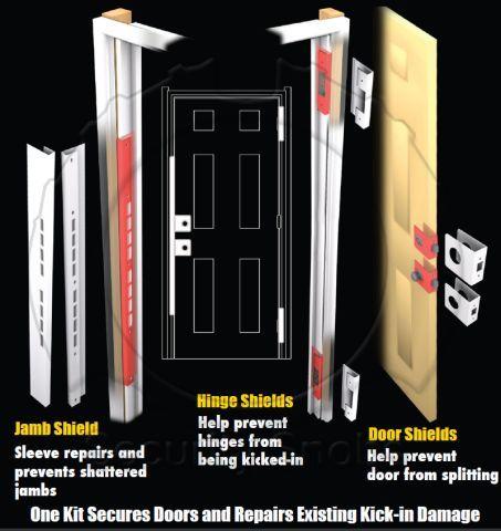 DJArmor Platinum Jamb Armor Combo Kit for Standard Doors   First Aid