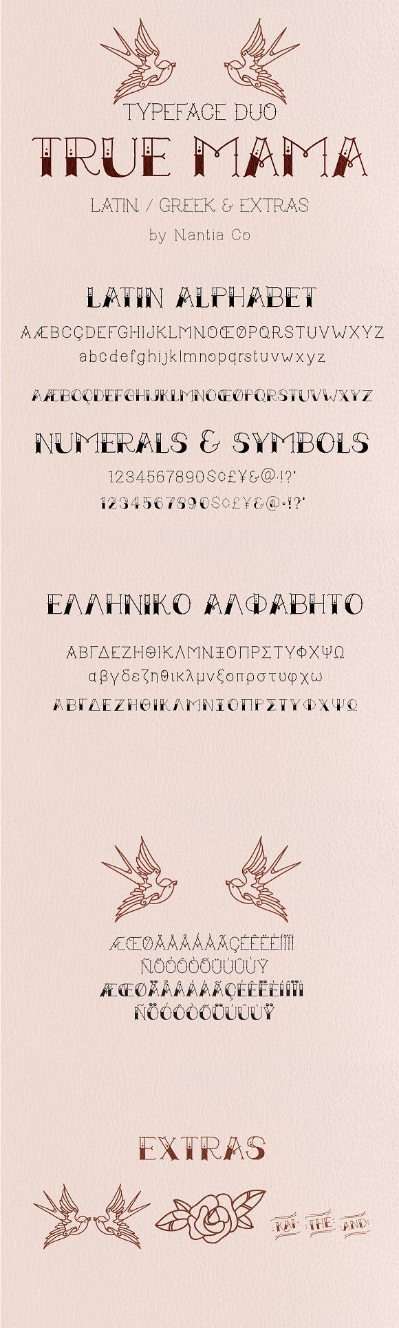 true mama   typeface duo by nantia on @creativemarket   fancy