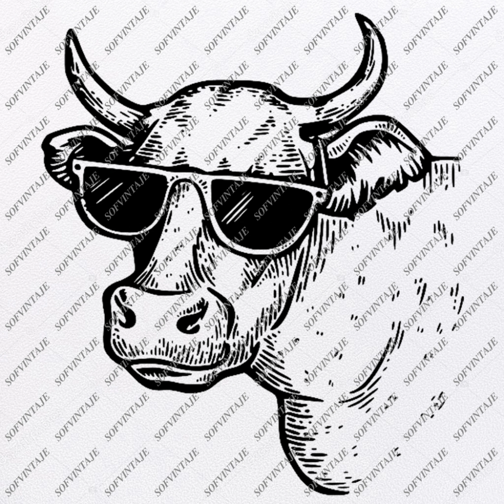 CoW Svg FileHeaD CoW Original Svg DesignAnimals Svg CoW