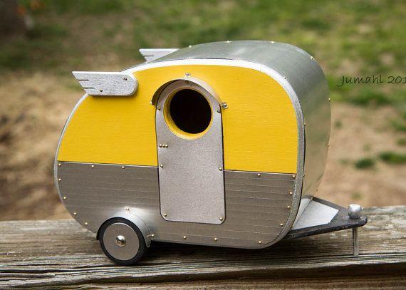 Vintage Camper Birdhouse by jumahl on Etsy, $60.00