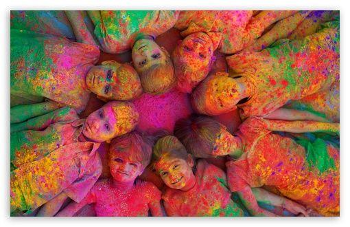 Indian Holi Festival By K23 Hd Desktop Wallpaper Widescreen High Definition Fullscreen Mobile Holi Festival Of Colours Holi Festival Color Festival