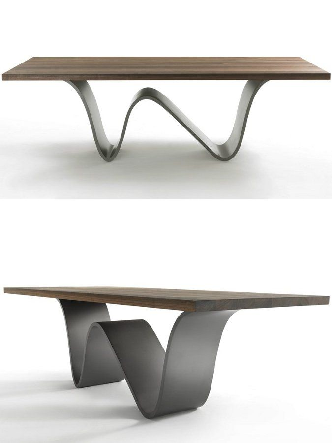 Rectangular solid wood table bree e onda by riva for Industria mobili