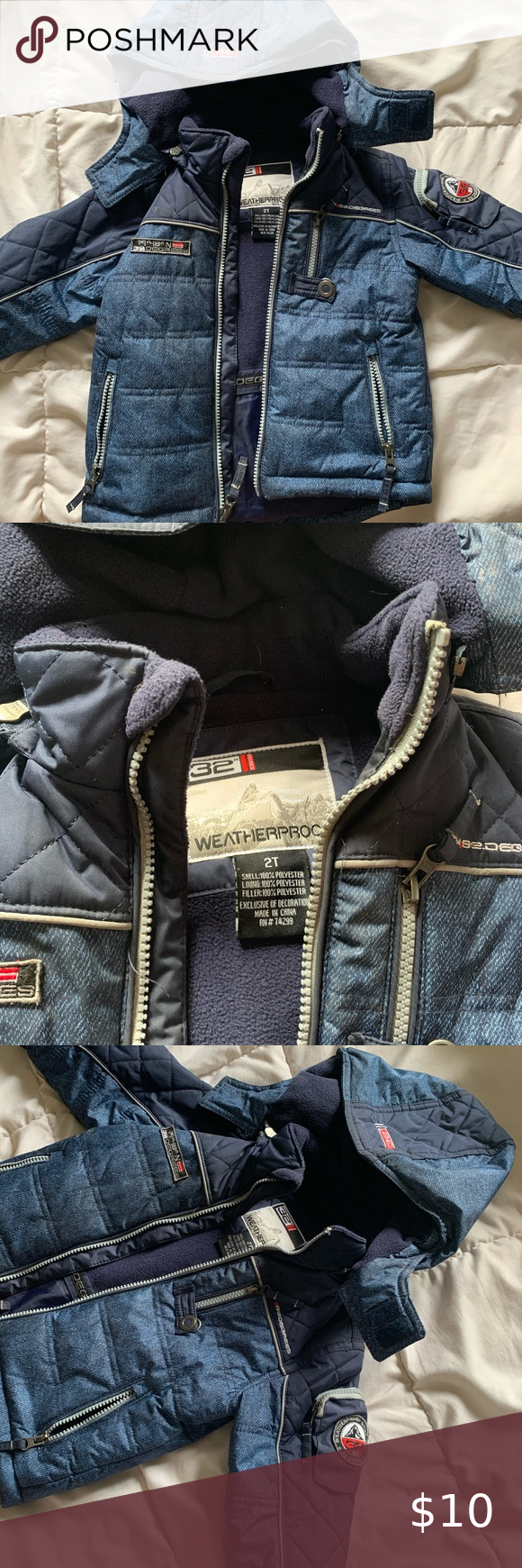 Boys Winter Coat Size 2t Boys Winter Coats Winter Coat Weatherproof Jacket [ 1740 x 580 Pixel ]