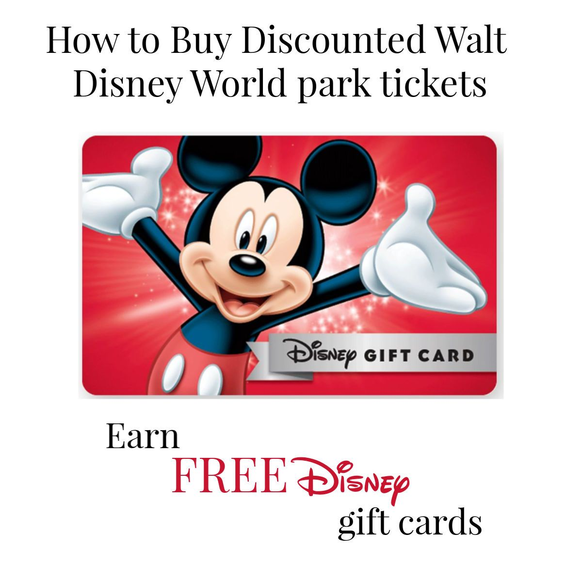 Disney Discount Tickets Disney Gift Card Disney Gift Disney Cards