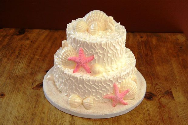 Masons Bakery Wedding Cake 61 Wedding Cake 2 Tier Small Beach