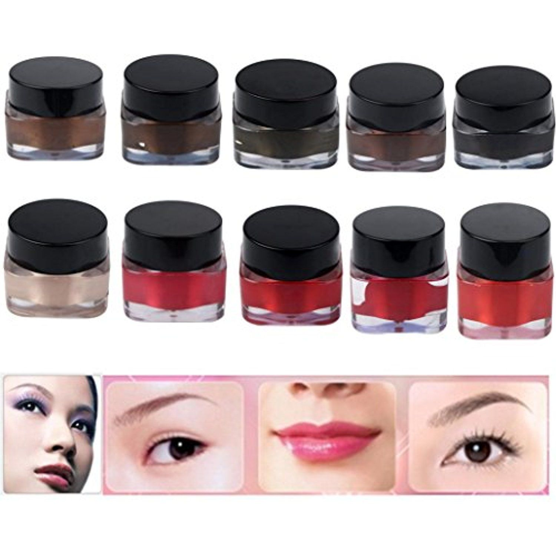 Hunputa 10pcs Microblading Pigment Permanent Makeup