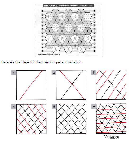 How To Draw Three Types Of Grids For Your Zentangles Zentangle