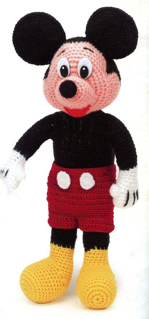Mickey Mouse Crochet Pattern   Crochet Toys   Pinterest   Tejido ...