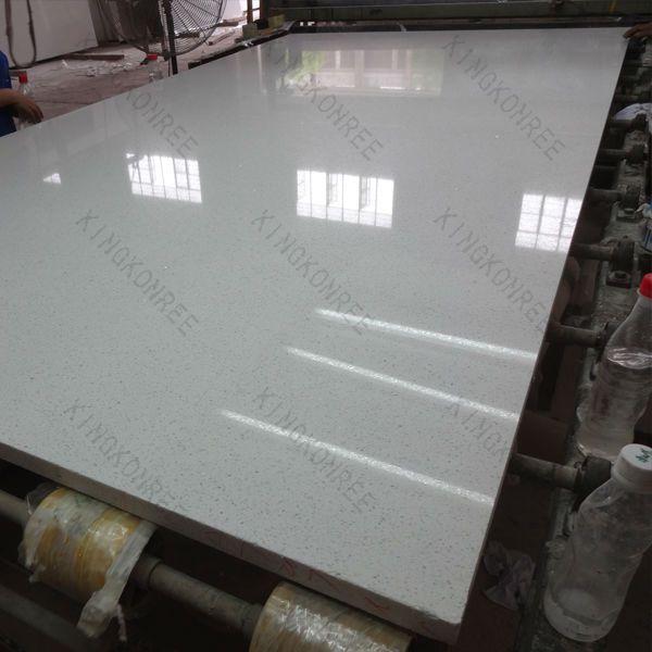 Quartz Shower Stone Wall Panel / Quartz Stone Panel For Bathroom Wall
