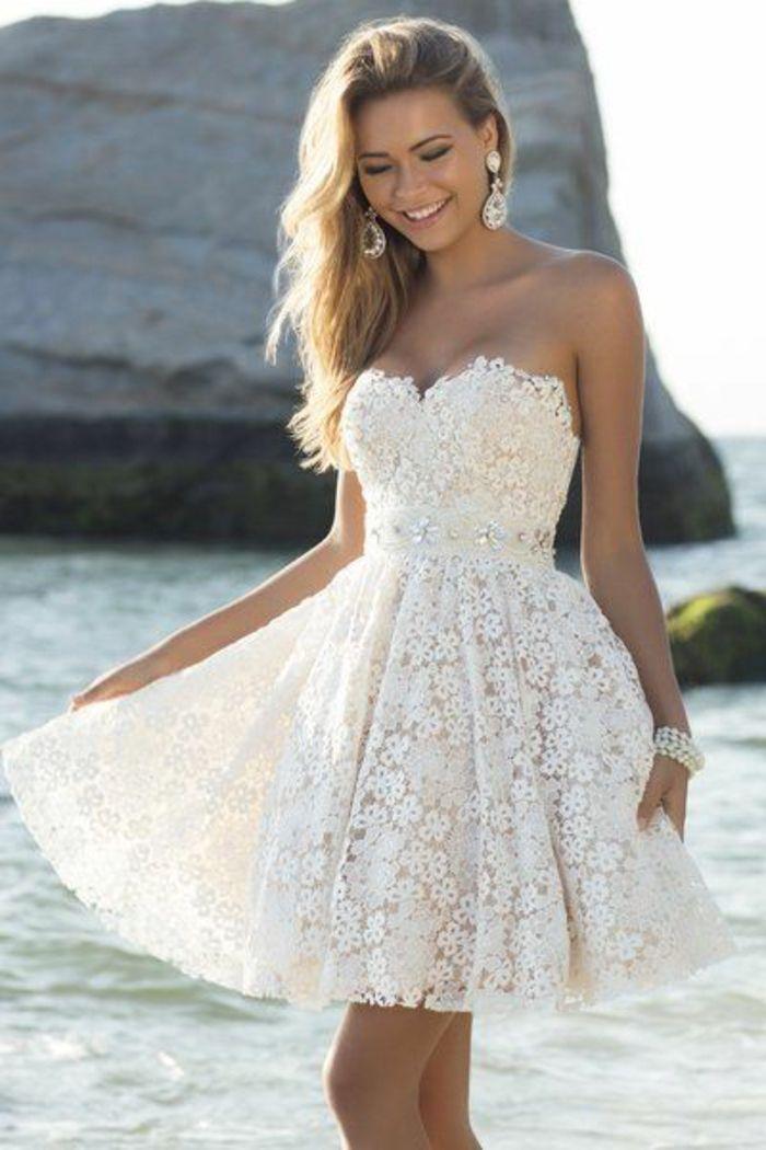 Robe blanche courte d'ete