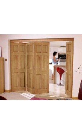 Victorian Six Panel Oak Door Bi Fold Kit