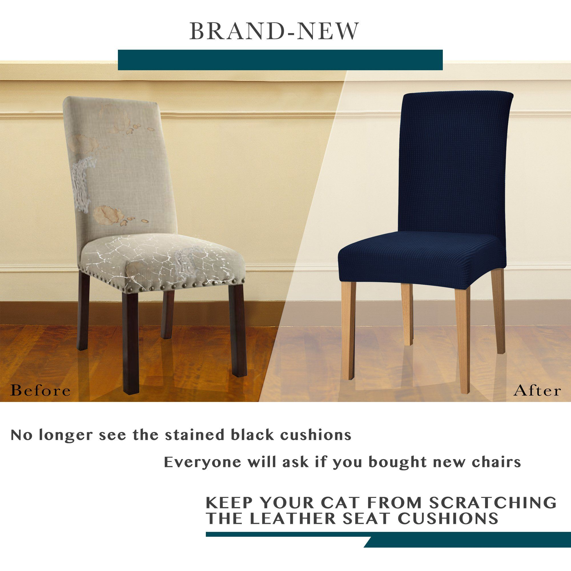 Wondrous Subrtex Chair Covers Dyed Jacquard Stretch Dining Room Chair Machost Co Dining Chair Design Ideas Machostcouk