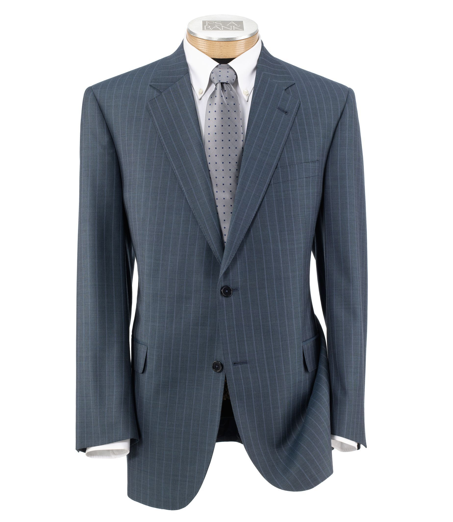 Signature Gold 2 Button Wool Plain Front Suit Big and Tall