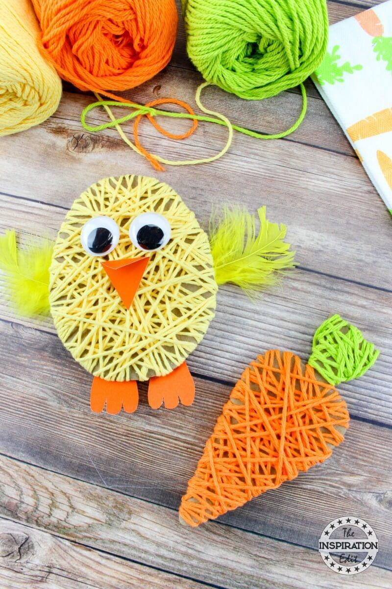 Easter Chick Yarn Kunstprojekt · The Inspiration Edit -  Easter Chick Yarn Craft – Tutorial zur Inspirationsbearbeitung. Ein einfaches, einfaches und lust - #chick #craftstodowhenbored #easter #Edit #holidaycrafts #inspiration #kunstprojekt #wintercrafts #Yarn #yarncrafts #yarninspiration
