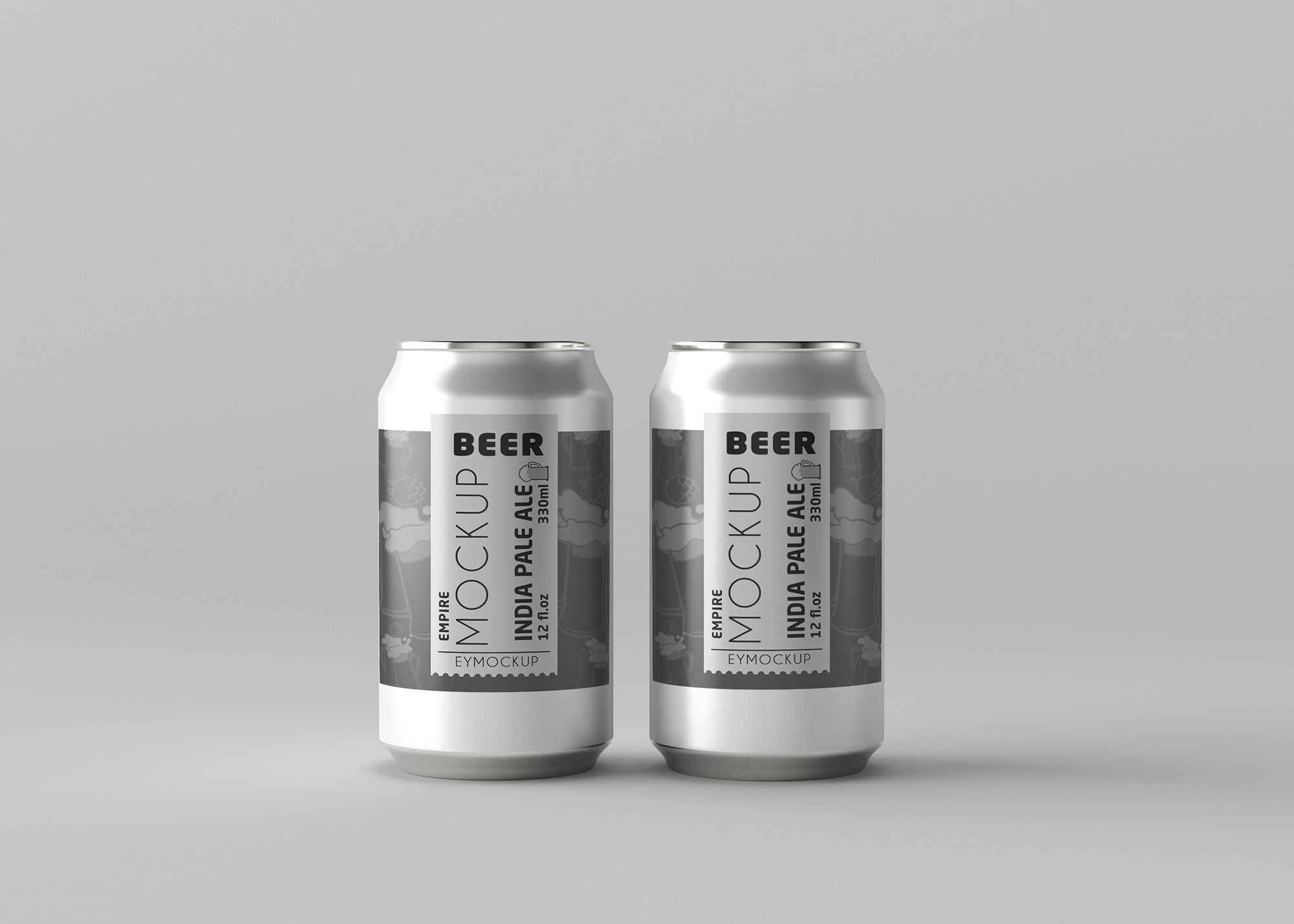 Round Small Beer Can Label Mockup For Presentation Mockup Free Psd Beer Can Mockup