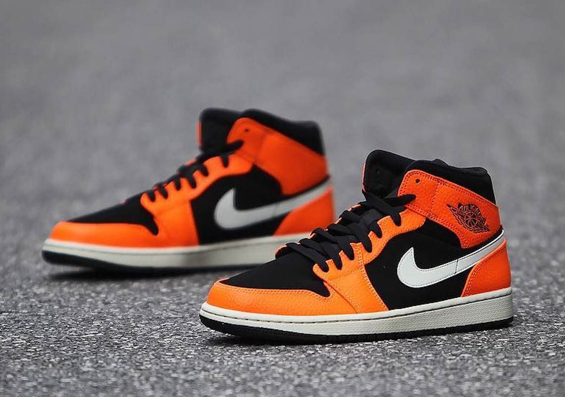 Shattered Backboard Vibes On This Air Jordan 1 Mid Air Jordans