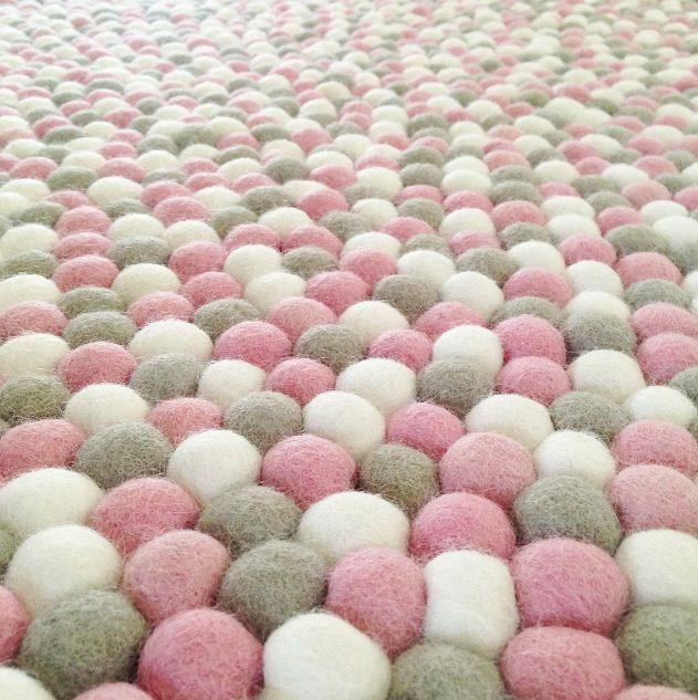 Felt Ball Rug Dusk Round Little Rosie Me