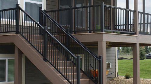 Preembled Powder Coated Aluminum Railing Panel 36 X 6