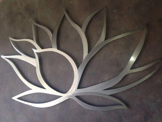 Lotus Flower Metal Wall Art By Inspiremetals