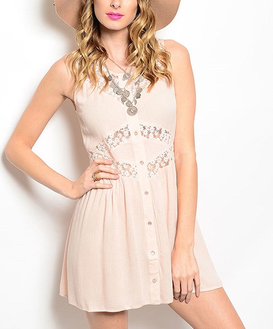 Pink cut out dress  Love this Pink Cutout ButtonUp Dress by Shop the Trends on zulily