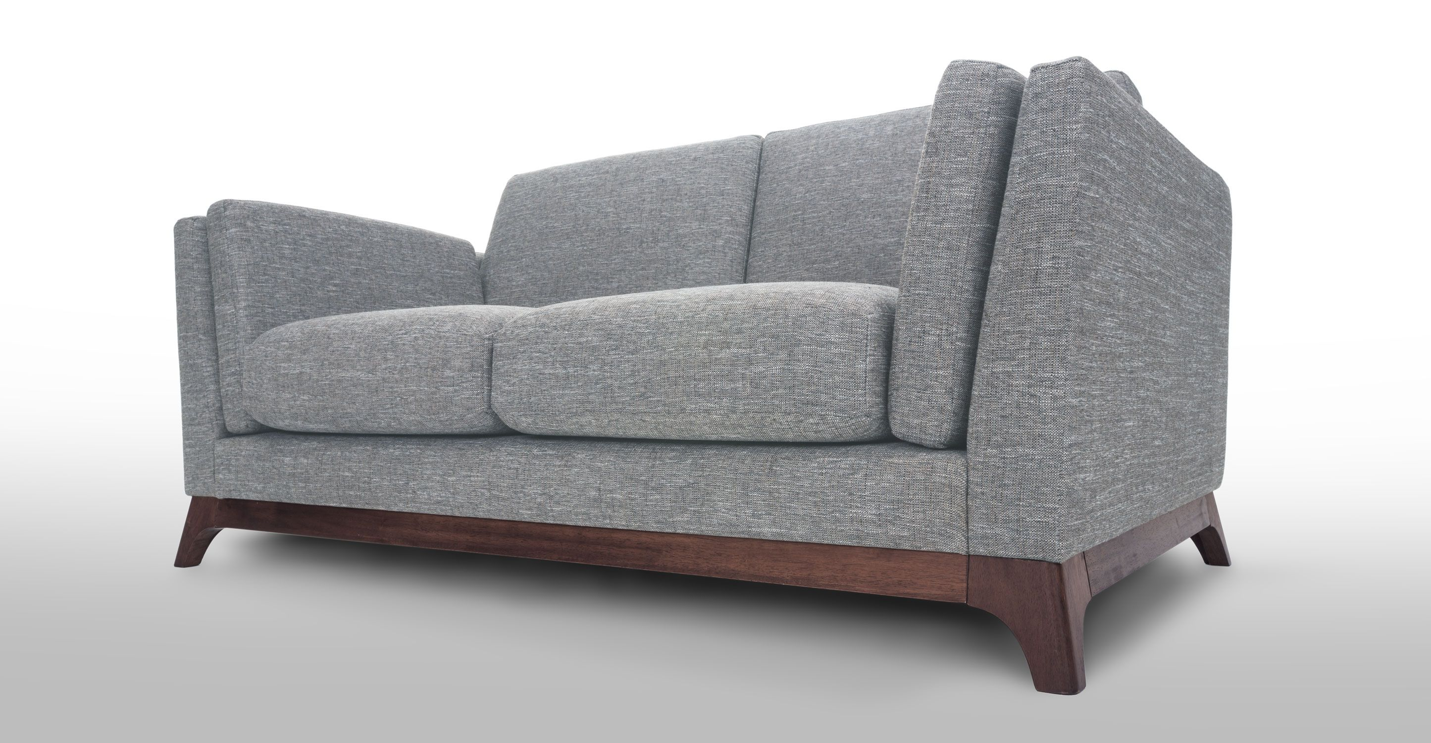 Gray Loveseat With Solid Wood Legs Article Ceni Modern