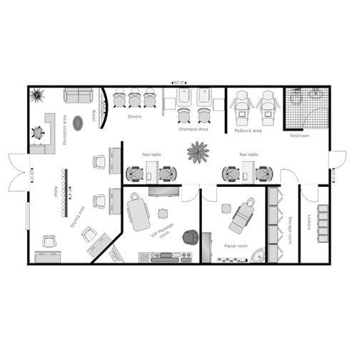 Salon And Spa Layout Design Service Layout Design