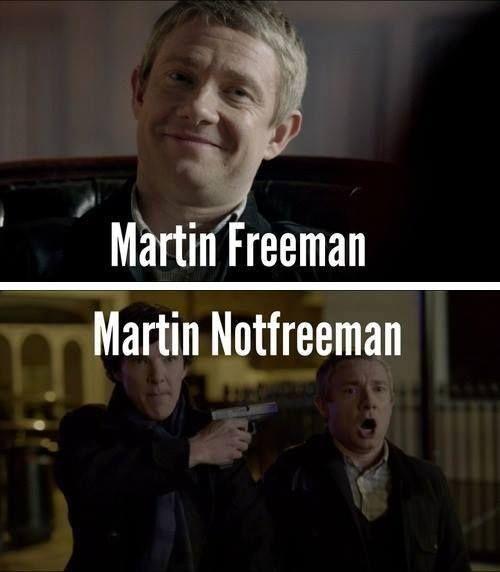 Martin Freeman vs. Martin Notfreeman - #Sherlock humor