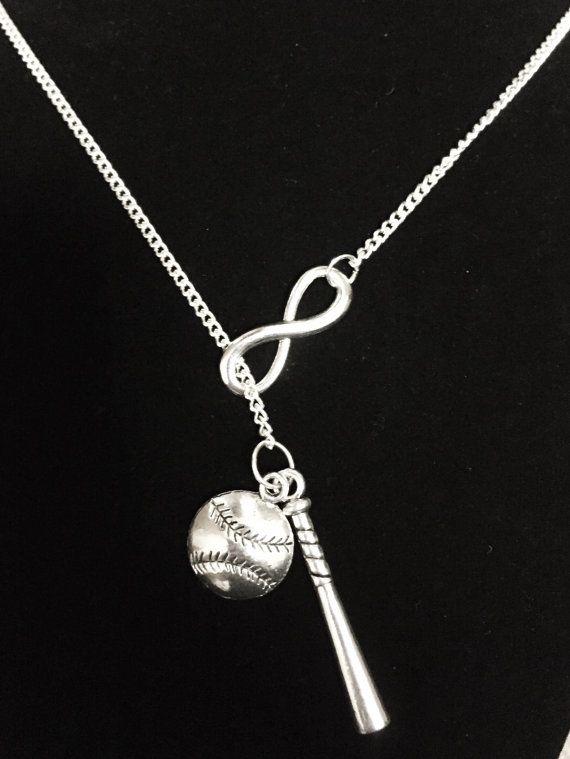 Photo of Baseball Bat Necklace, Softball Necklace, Allstar Gift, Baseball Mom, Softball Mom, Sports Necklace, Y Lariat Necklace