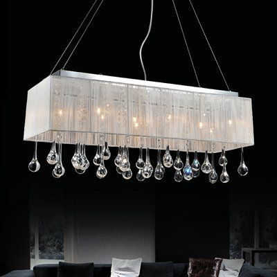 Crystal World PC Water Drop Rectangular Crystal Chandelier - Chandelier drop crystals