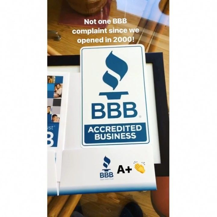 Look what arrived in the mailbbb decals stickers and our certificate were excited to be an accredited business with the bbb the better business bureau is