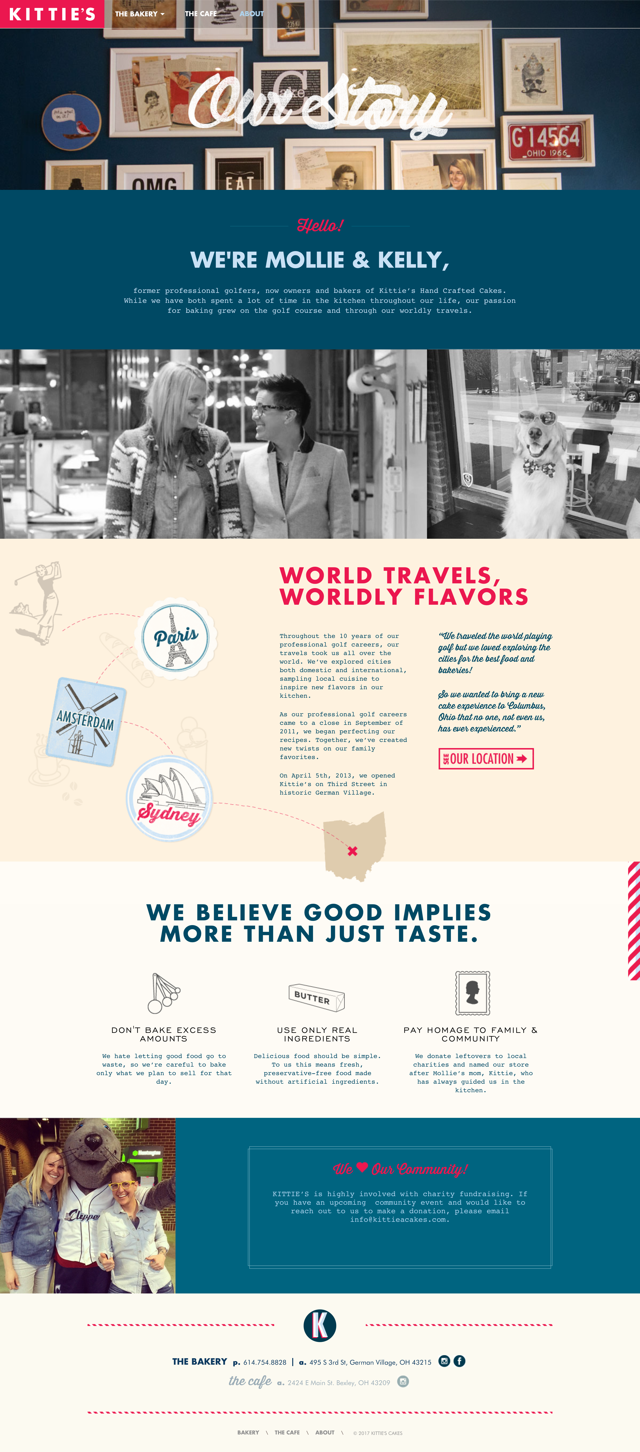 Awesome Example Of Well Thought Out Web Design Combining A Vintage Feel With Clean Modern Layouts About Us Page Beautiful Website Design Web Layout Design