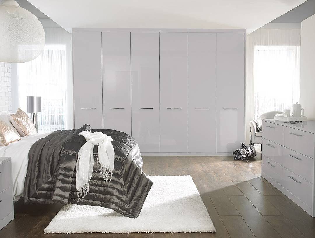 Brandnew Mist Grey High Gloss Wardrobes Contemporary Modern Highgloss Greyinterior Interiors Fitted Bedrooms Fitted Bedroom Furniture Fitted Wardrobes