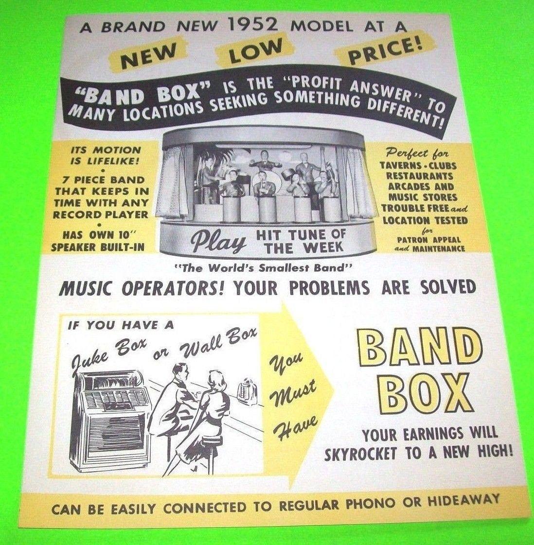 Band Box Chicago Coin Original Phonograph Jukebox