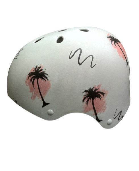 Belle Bike Helmets Retro Inspired Palm Trees // one of a kind & hand painted.